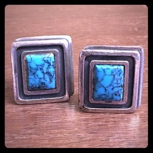 Southwestern Turquoise Cuff Links